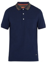 Missoni Striped-collar Cotton Polo Shirt