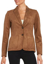 Tommy Hilfiger Faux Suede Two-Button Blazer