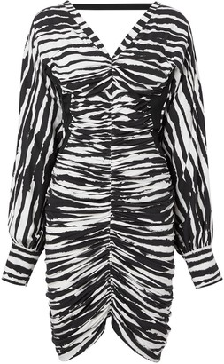 Burberry Watercolour Zebra-Print Mini Dress