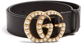 Gucci GG-logo 4cm leather belt