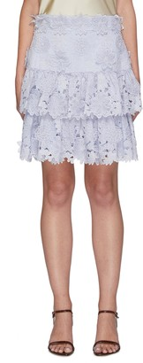 Zimmermann 'The LOVESTRUCK' Floral Applique Mini Skirt