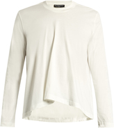 Balenciaga Long-sleeved fluted cotton T-shirt