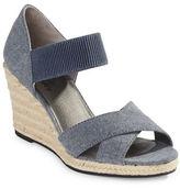 Lifestride Denim Wedge Sandals