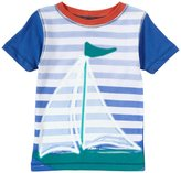Charlie Rocket Color Block Sailboat Tee (Baby) - White-3-6 Months