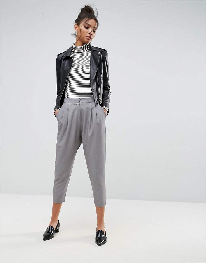 Asos Tailored Drop Crotch Tapered Trouser