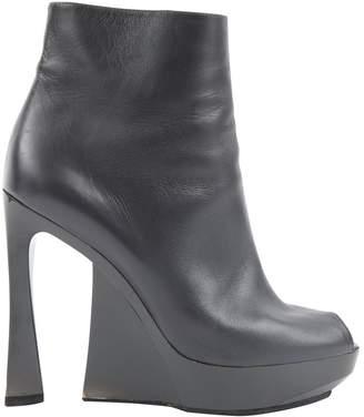 Jil Sander Anthracite Leather Heels