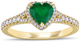 Rina Limor Fine Jewelry 14K 0.92 Ct. Tw. Diamond & Emerald Ring