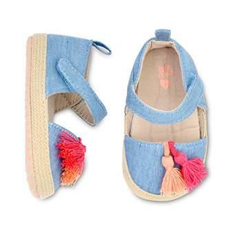 Osh Kosh Girls Tassel Espadrille Crib Shoe