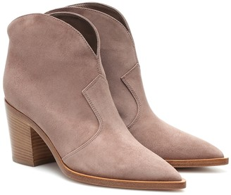 Gianvito Rossi Nevada suede ankle boots