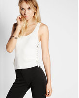 Express ribbed lace-up tank