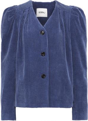 GOEN.J Gathered Cotton-corduroy Jacket