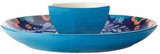 Maxwell & Williams Majolica Chip & Dip Serving Plate 30cm Blue