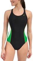Nike Swim Team Color Block Power Back Tank One Piece Swimsuit 34945