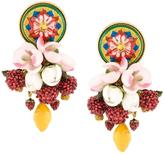 Dolce & Gabbana decorative clip-on earrings