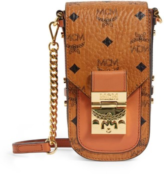 MCM Mini Patricia Visetos Cross-Body Bag