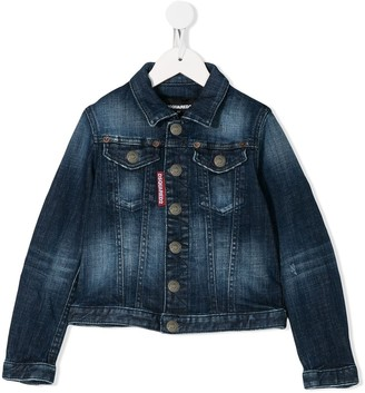 DSQUARED2 Faded Effect Denim Jacket