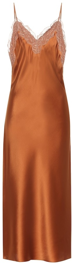 Jonathan Simkhai Blair lace-trimmed silk satin slip dress