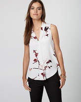 Le Château Floral Print Built-Up Neck Blouse