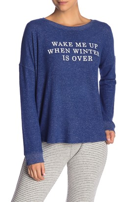 Free Press Hacci Brushed Crew Neck Pullover