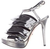 Jerome C. Rousseau Quorra Metallic Sandals
