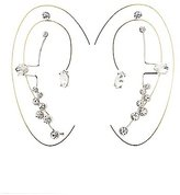 Charlotte Russe Rhinestone Ear Cuffs & Stud Earrings Set