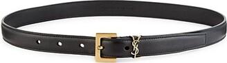 Saint Laurent Monogram Lacquer Leather Belt