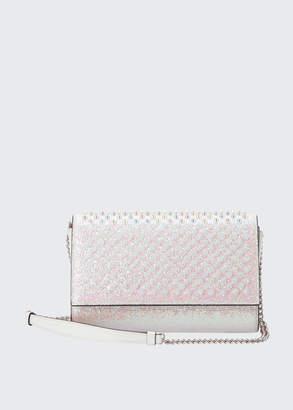 Christian Louboutin Paloma Glitter Ultra Clutch Bag