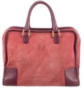 Loewe Suede & Leather Amazona Bag