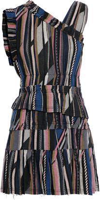 IRO Luren Tiered Silk And Cotton-blend Jacquard Mini Dress