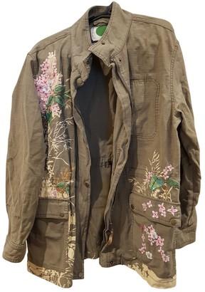 Anthropologie Green Cotton Jackets