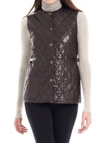Max Studio Quilted Soft Leather Vest