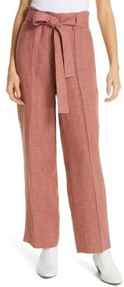 Robert Rodriguez Chelsea Linen Blend Paperbag Waist Pants