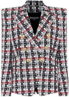 Balmain Metallic tweed blazer