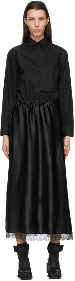 MM6 MAISON MARGIELA Black Shirt Slip Dress