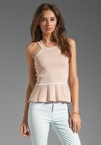 Parker Alix Contrast Knit Top