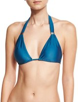 Vix Bia Solid Swim Top, Blue (Available in Extended Cup Size)