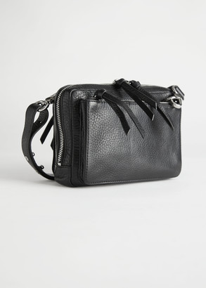 And other stories Grained Leather Crossbody Bag