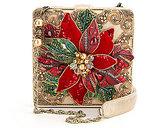 Mary Frances Believe Holiday Poinsettia Clutch