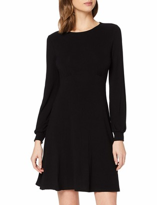 Dorothy Perkins Women's Black Empire Fit and Flare Dress 12
