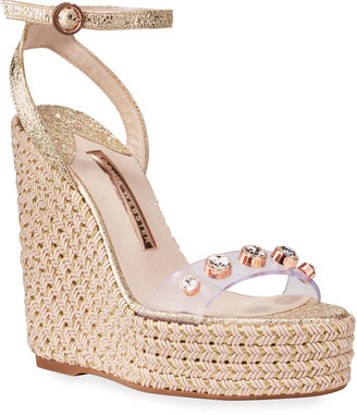 Sophia Webster Dina Gem Crackle Espadrille Sandals
