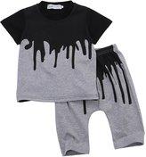 Ma&Baby Baby Boys Outfits Gray Clothes T-shirt Tops+Pants 2PCS Set
