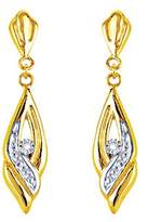 Bijoux pour tous Drop earrings - 9K8340GB - two-tone 9 carat gold - diamond