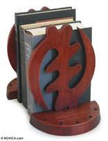 African Cedar Bookends (Pair), 'Fear God'