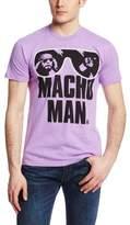WWE Men's Legends Macho Man Authentic T-Shirt, Neon Purple Heather, Large