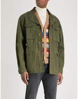 Gucci Logo-print Cotton-blend Field Jacket