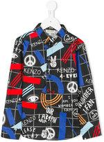 Kenzo peace print shirt - kids - Cotton - 2 yrs