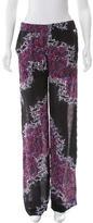 Versace Wide-Leg Printed Pants w/ Tags