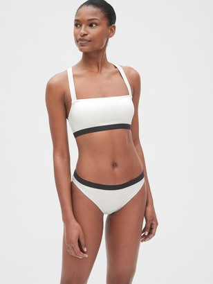 Gap Square-Neck Crossback Bralette Bikini Top