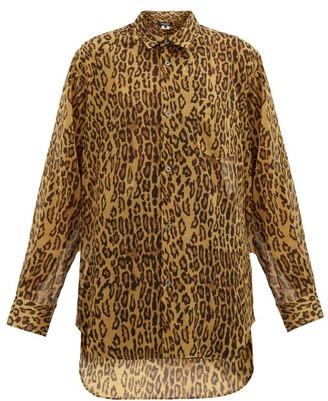 Junya Watanabe Leopard-print Gauze Shirt - Leopard