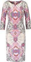 Basler Abstract Print Jersey Dress